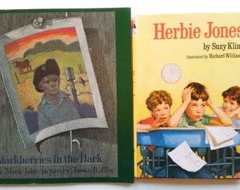 "Book Set for Boys: Hardcover ""Herbie Jones"" and Softcover ""Blackberries in the Dark"" (DISCOUNT)"