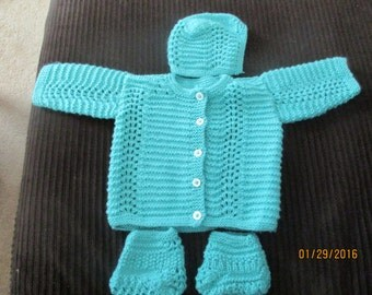 Knitted Baby Sweater Set-Free Shipping