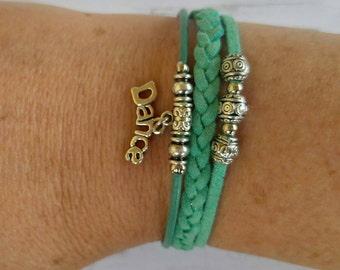 Personalized Sports Bracelet// Dance Bracelet// Team Colors// Dance Mom// Dance Coach// Dance Gift// Choose Colors & Charm