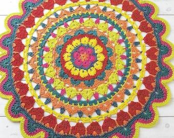 Decorative Rug Crochet  Pattern only Natura XL Yarn