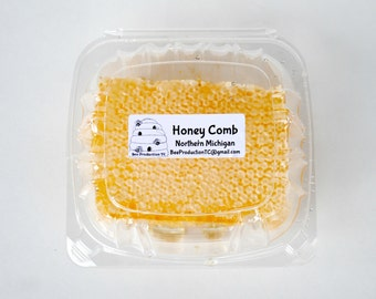 100% Pure Raw Natural Honey Comb Full of Honey in Box 10 oz