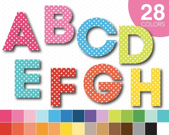letters to numbers polka dot alphabet clipart polka dot clipart polka dot 1470