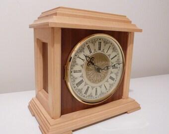 Mantle Clock, Wood Mantle Clock, Handmade Clock, Clock, Mantel Clock, Desk Clock, Table Clock