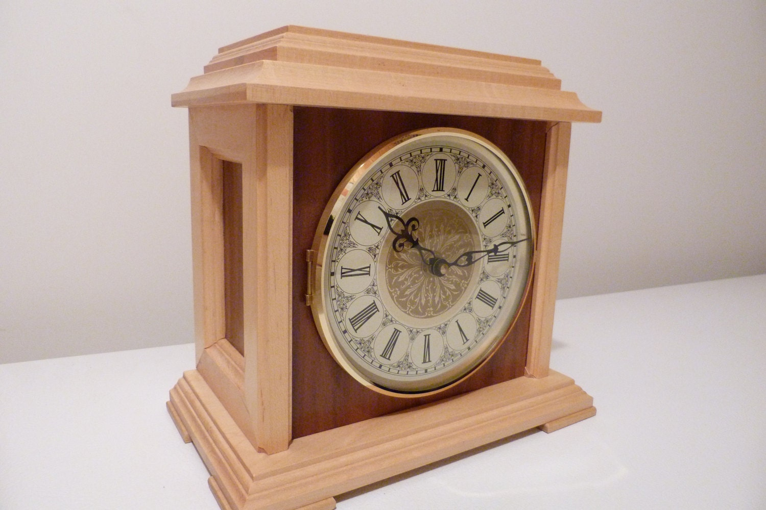 handmade wooden clocks mantle clock wood mantle clock handmade clock clock mantel 3772