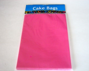 25 Ct. Pink Cake Bags, Pink Bakery Bags, Hot Pink Treat Bags, Hot Pink Gift Bags, Pink Snack Bags, Pink Candy Bags, Pink Birthday Bags