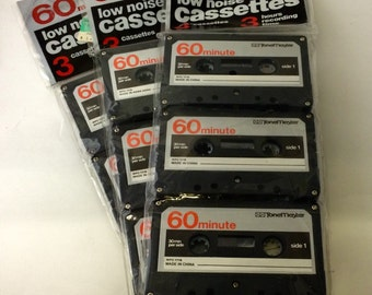 Lot of 3 New Tonemaster Blank Cassette Tapes 60 minutes-Low Noise