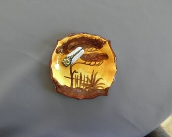 "Provence in France: vacuum-pocket or ashtray with a cicada ceramic 11.5 cm x 11, 5cm (4.5 ""x 4, 5"