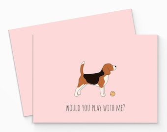 Printable Beagle Card - Digital Beagle Card - Cute Dog Greeting Card - Printable Dog Card - Funny Beagle Card - Card for Dog Lovers