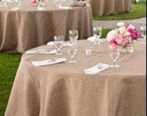 SALE! Burlap tablecloth, wedding tablecloth, rustic burlap, event, jute burlap, rustic wedding, beach wedding, barn yard wedding