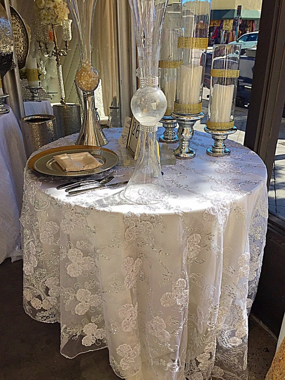 lace table overlay table overlay wedding tablecloth