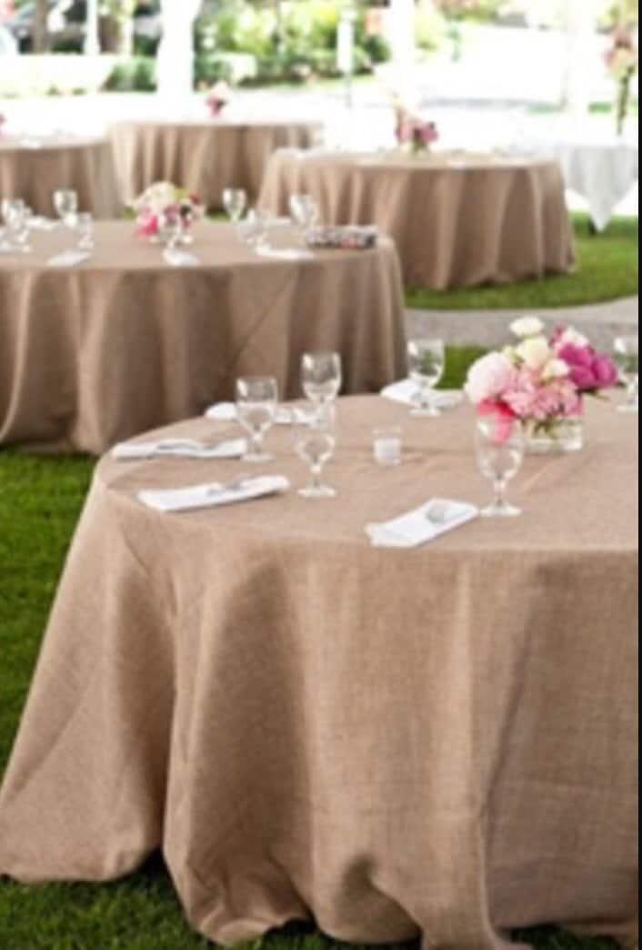 Burlap Tablecloth, Wedding Table Cloth, SALE, Rustic Wedding Decor, Burlap,  Event, Beach Wedding, Barn Yard, Shabby Chic Wedding
