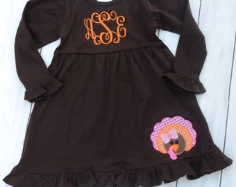 Thanksgiving Dress - Girls Thanksgiving Outfit - Toddler Thanksgiving Outfit - Ruffle Dress - Thanksgiving Outfit - Girls Dress - Toddler