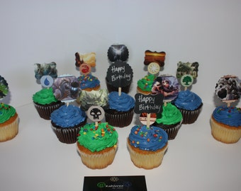 Magic the Gathering Cupcake Toppers
