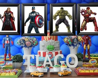 Marvels Avengers Bedroom/Birthday party Picture frame Decor (11X14 Frames)