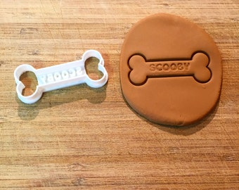Personalized Dog Treat Cookie Cutter, Bone Cookie Cutter, Pets, 3D Printed