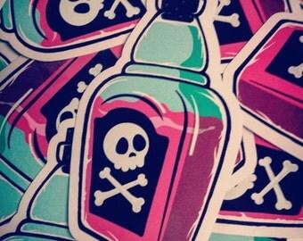 Poison Bottle Vinyl Sticker