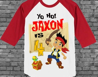 Jake Birthday Shirt - Jake and the Neverland Pirates Birthday Shirt - Ringer Style Available