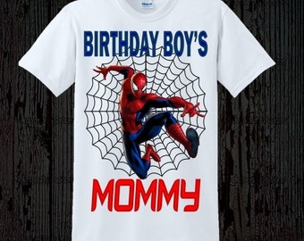 Spiderman Birthday Mom Shirt