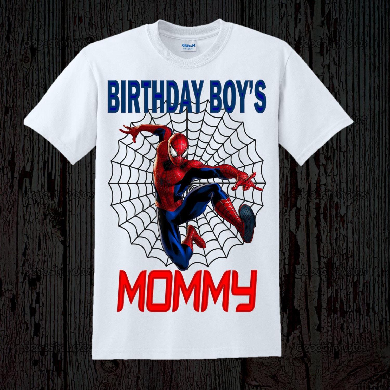 Spiderman Birthday Mom Shirt