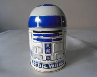 R2  D2 star wars embossed  sweet tin 1996