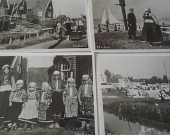 10 x mini foto snap shots 1953 taken in Holland dutch people and scenes.