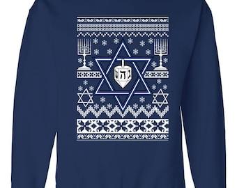 Hanukkah Ugly Christmas Sweater Sweatshirt