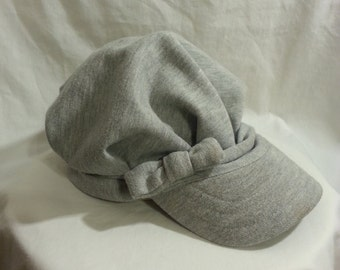 Grey Messenger Cap with Bow