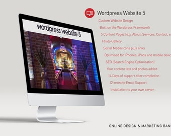Custom Wordpress Website - 5 Content Pages