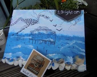 Brighton Beach Pier Canvas Painting