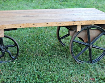 Railroad Cart Table