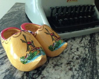 Souvenir from Holland ~ tiny dutch wooden shoes!