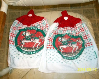 Country Christmas Horse Towels