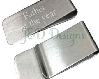 Stainless Steel Personalized Money Clip