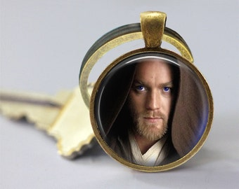 Star Wars Inspired Obi Wan Kenobi Glass Pendant/Necklace/Keychain