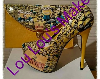 Minion Shoes Handmade (shoes only)