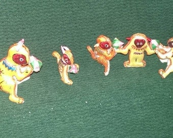 Funky monkeys, made in China, set of 5