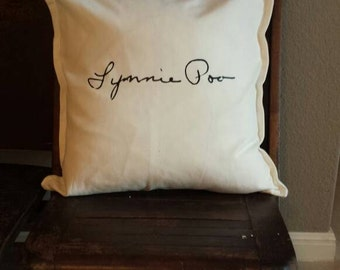 Custom Handwriting Pillow