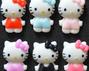 Hello Kitty Resin Flatbacks 6 pk