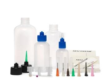 36-Piece Customizable & Interchangeable Applicator Kit, Xiem Customizable Applicator Kit, Henna Mehndi Fine Line  Applicator