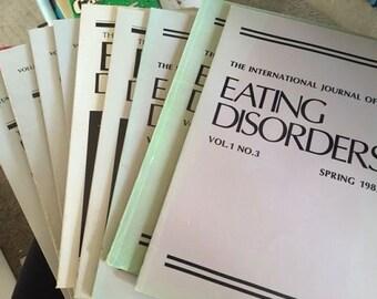 EATING DISORDERS..International Journal of Eating Disorders Journals 9 Back Copies 1982-1986
