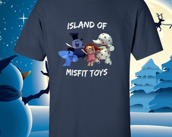 Island of Misfit Toys T-Shirt Christmas Party Fun T-Shirt Tee Rudolph Rednose Reindeer