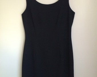 90s Black Sleeveless Dress 10 / 12 / S / M