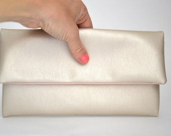 Bride Bag Pearl, Peal Leather, Clutch, Accessoire Bride
