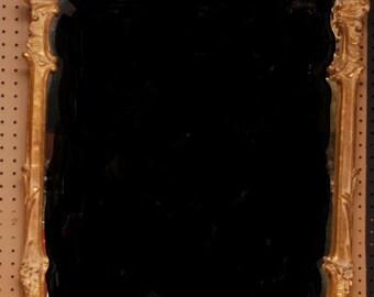 "Gilded rococo frame mirror, 43"" x 27""w"