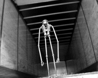 Slender Man, metal sculpture, welded sculpture, creepy art, Halloween decor, creepy sculpture, scrap metal, metal art, metal man, welded,