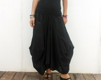 balloon skirt black
