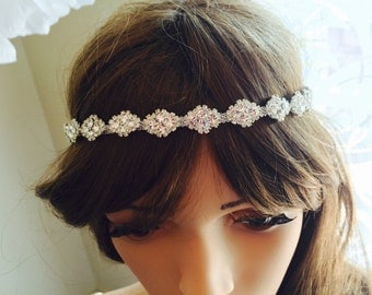 Wedding bridal bohemian crystal headband