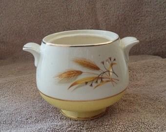 wheat pattern sugar bowl, wheat pattern china ,vintage sugar bowl,sugar bowl,gift for collector