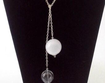 Lariat Pendant, Blown Glass Lariat Pendant, Blown Glass Jewelry, Modern Pendant, Modern Lariat, Blown Glass Necklace