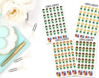 Cute Girl Scout Planner Stickers